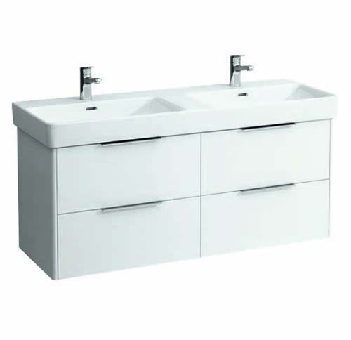 click on 130cm  Double Basin Vanity Unit image to enlarge