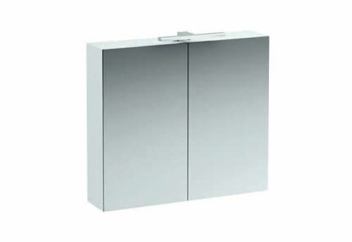 click on 80cm Mirrored Cabinet with Light and Shaver Socket image to enlarge