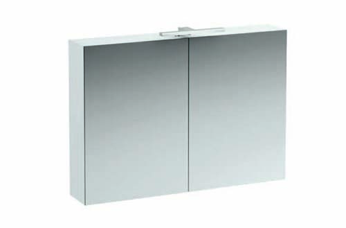 click on 100cm Mirrored Cabinet with Light and Shaver Socket image to enlarge