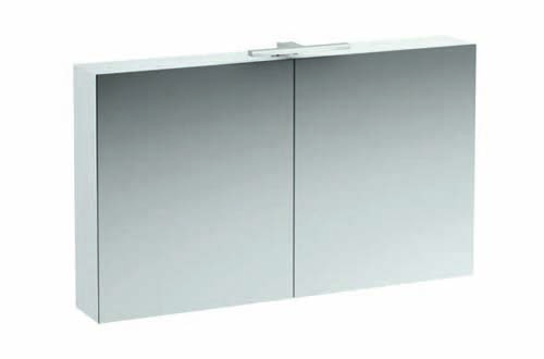 click on 120cm Mirrored Cabinet with Light and Shaver Socket image to enlarge