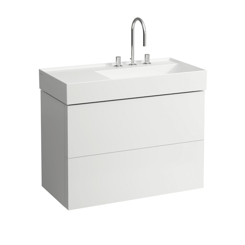 click on 88cm Vanity Unit with 2 Drawers image to enlarge