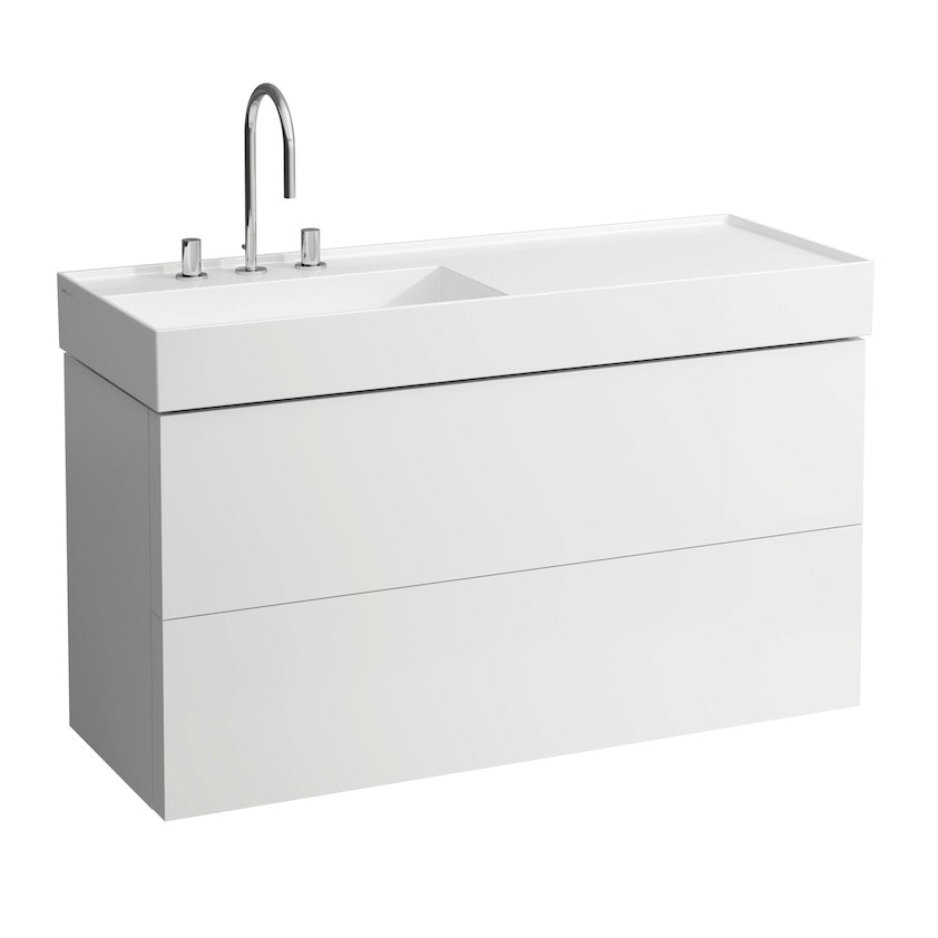 click on 118cm Vanity Unit with 2 Drawers image to enlarge