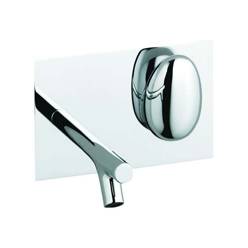click on Pebble Wall Mounted Single Lever Basin Mixer image to enlarge