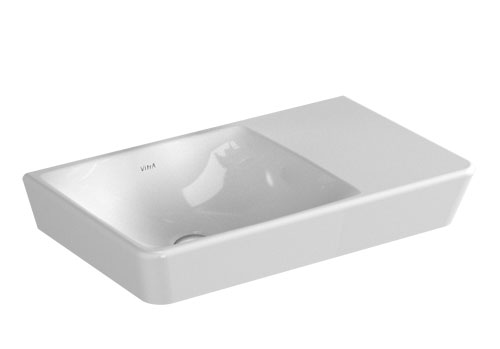 click on Basin with Offset tap hole image to enlarge