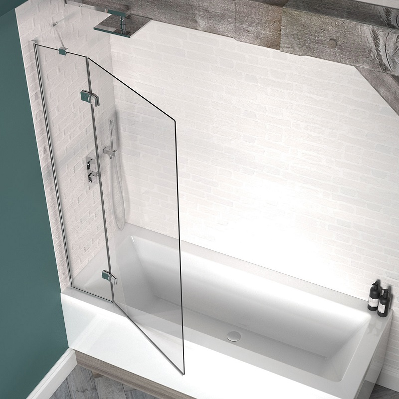 click on 2 Panel Outward Swinging Bath Screen image to enlarge