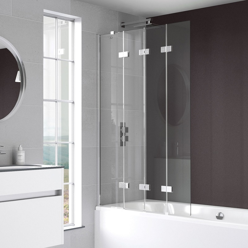 click on 4 Panel Compact Bath Screen image to enlarge