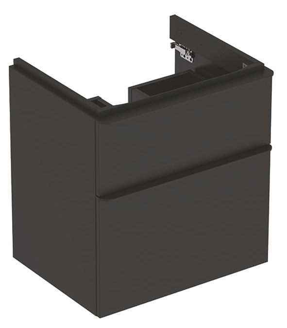 click on Square 60cm Vanity Unit with 2 Drawers image to enlarge