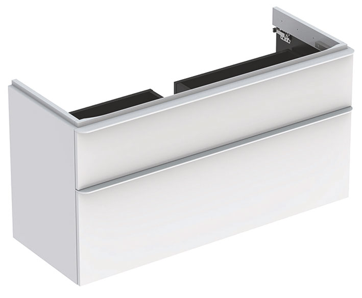 click on Square 120cm Vanity Unit with 2 Drawers image to enlarge