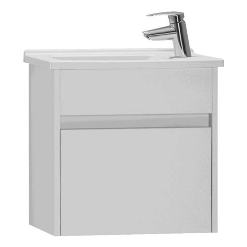 click on 50cm Compact Single Door Vanity Unit and Basin image to enlarge