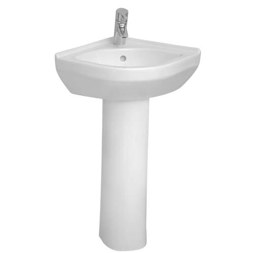 click on Round Corner Basin & Pedestal image to enlarge
