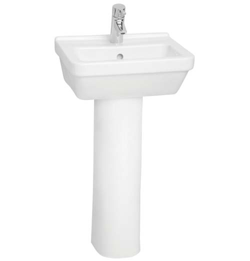 click on Square Cloakroom Basin and Pedestal image to enlarge