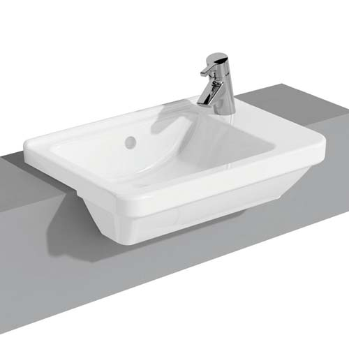 click on Compact Square Semi-Recessed Basin image to enlarge