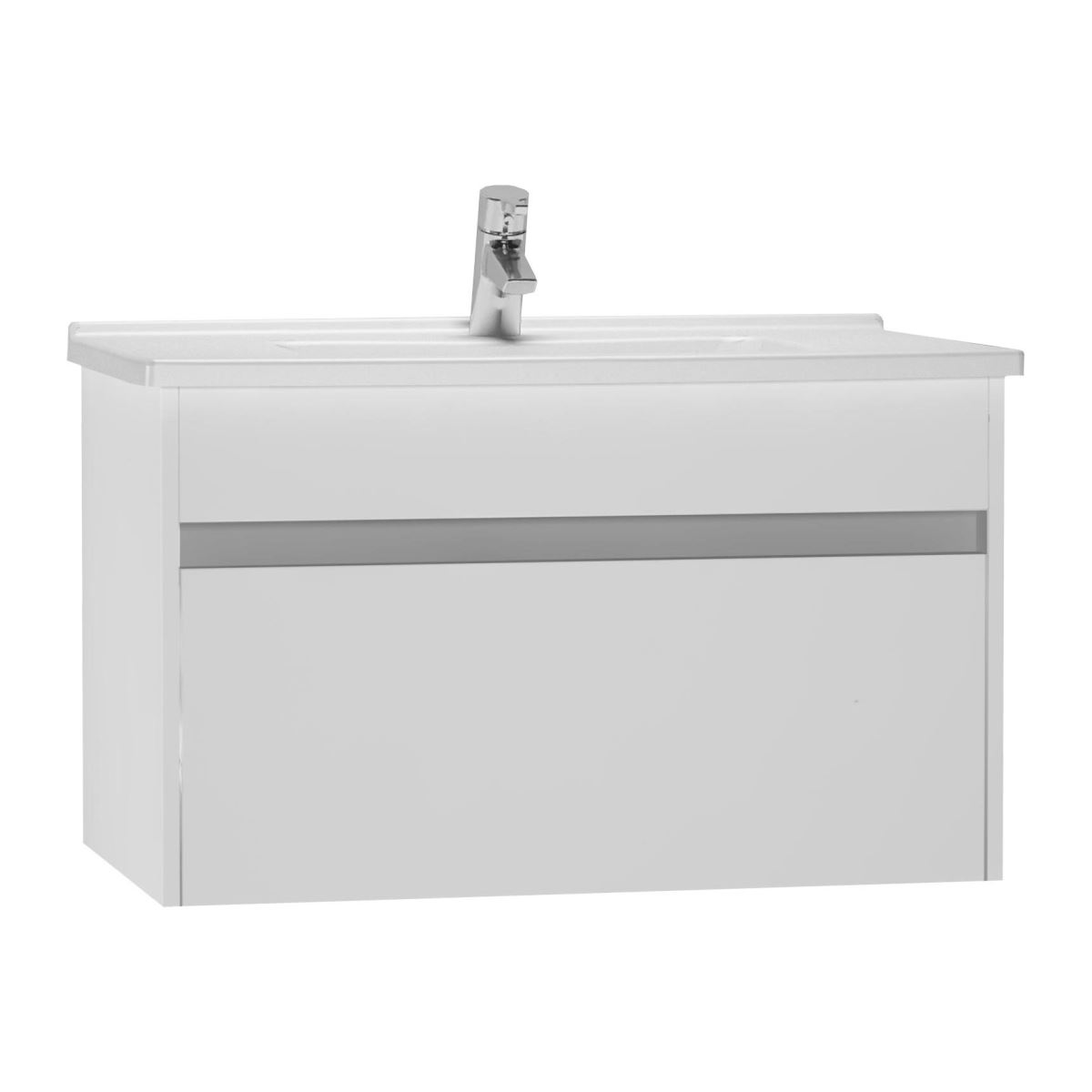 click on 80cm Vanity Unit with Drawer and Basin image to enlarge