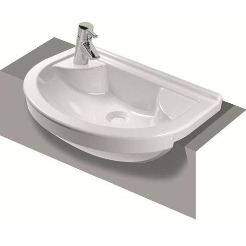 click on Round Compact Semi-Recessed Basin image to enlarge