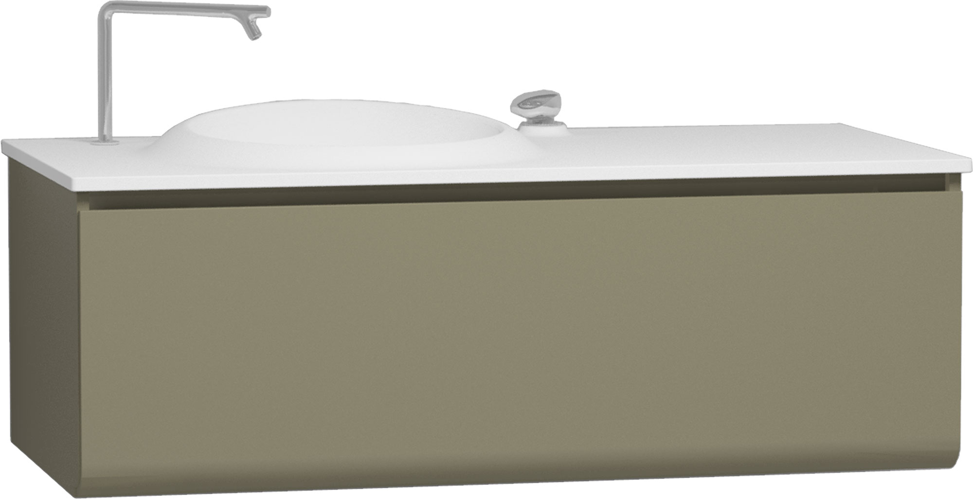click on 120cm Vanity Unit with Drawer and Basin image to enlarge