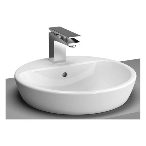 click on Round Bowl with Tap Ledge 45cm image to enlarge