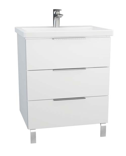 click on 90cm 3 Drawer Washbasin Unit with legs image to enlarge