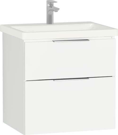 click on 60cm 2 Drawer Washbasin Unit image to enlarge
