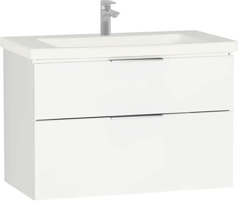 click on 90cm 2 Drawer Washbasin Unit image to enlarge