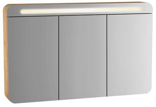 click on Illuminated Three Door Mirror Cabinet image to enlarge