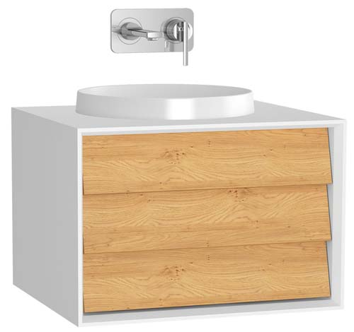 click on Vanity Unit with 1 Drawer for Sit-On / Inset Basins image to enlarge
