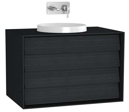 click on Vanity Unit with 2 Drawers for Sit-On / Inset Basins image to enlarge