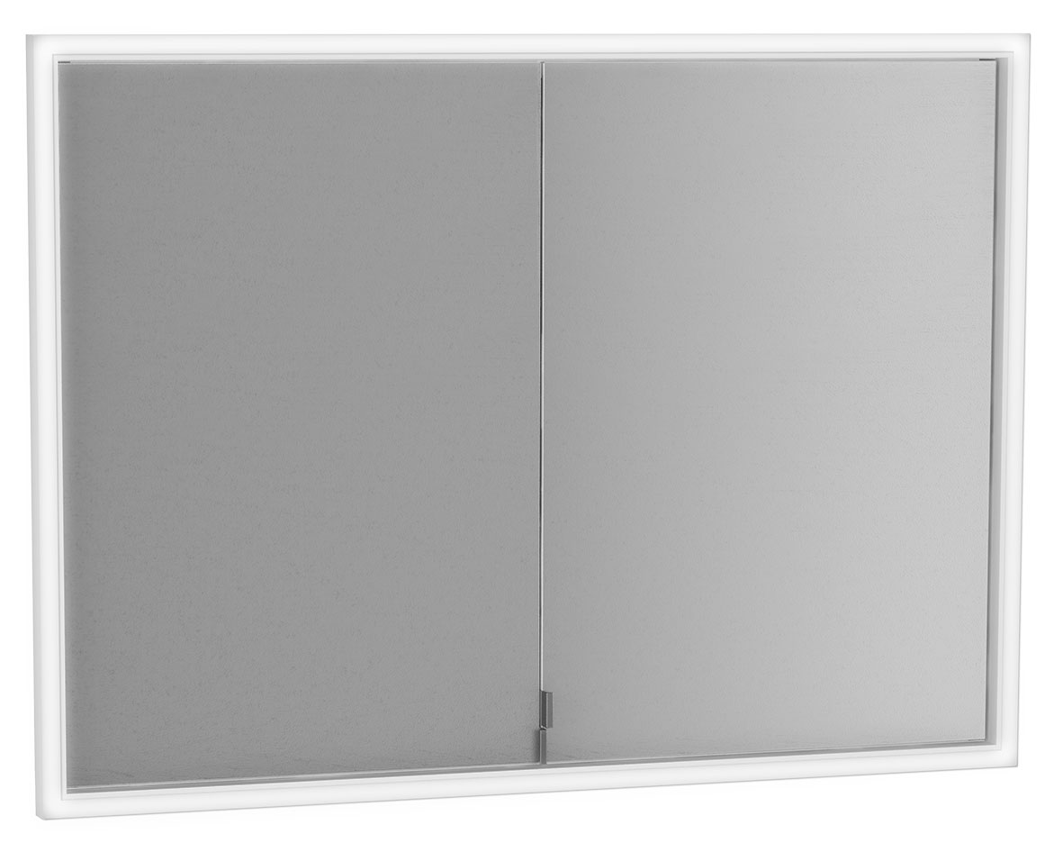 click on Deluxe Double Door Built-in Mirror Cabinet image to enlarge