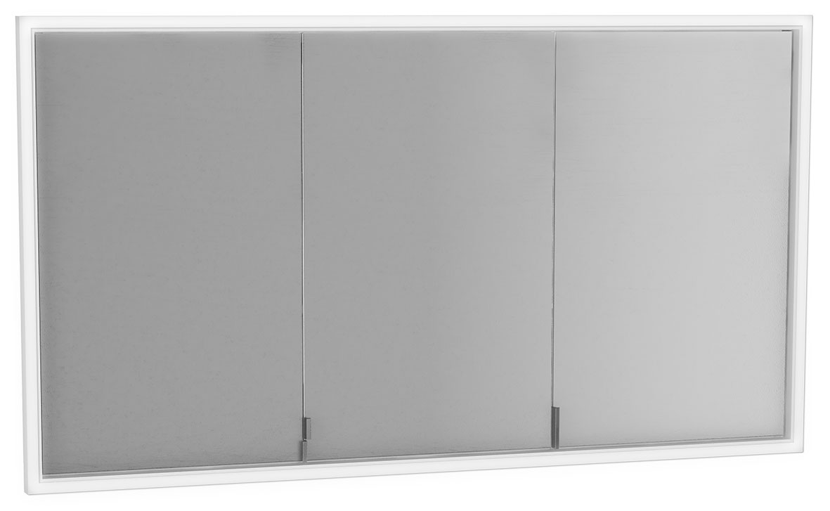 click on Deluxe Three Door Built-in Mirror Cabinet image to enlarge