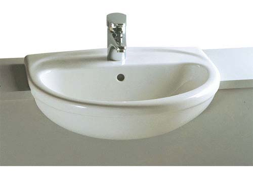 click on Semi-Recessed Basin image to enlarge