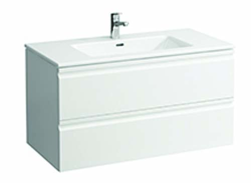 click on 100cm Basin & Vanity Unit with 2 Drawers image to enlarge
