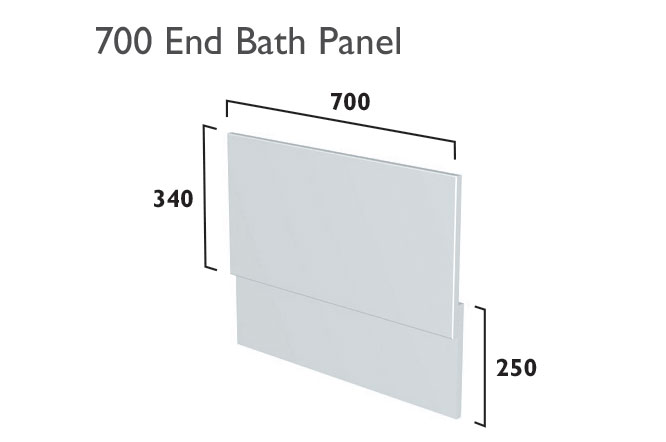 click on Bath End Panel image to enlarge
