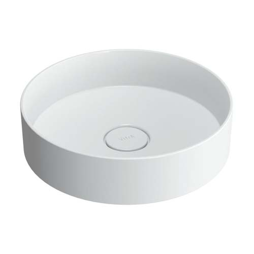click on Round Countertop Mineral Cast Basin image to enlarge