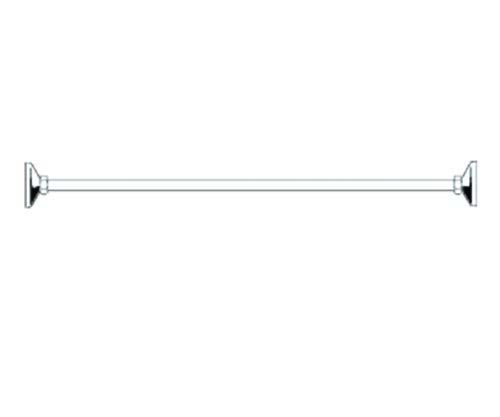 click on Shower Rail - Straight (One piece) image to enlarge