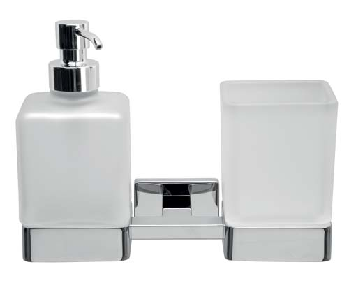 click on Double Tumbler and Soap Dispenser image to enlarge
