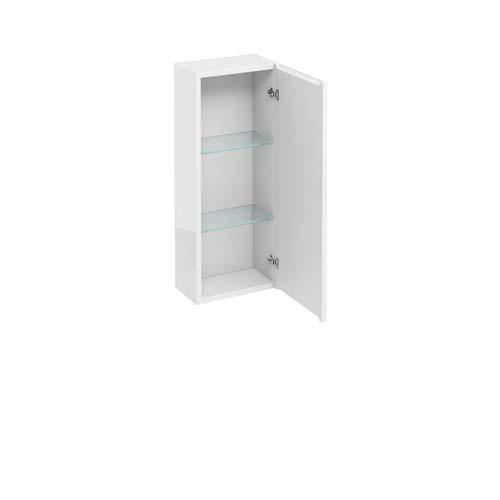 click on Single Door Wall Unit with Mirrored Door image to enlarge