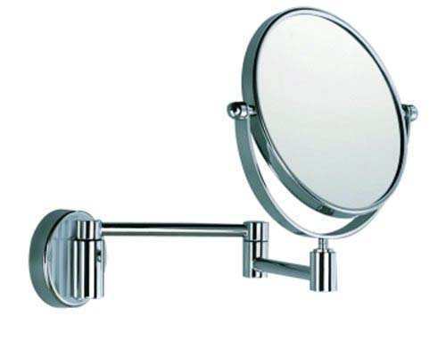 click on Magnifying Mirror - Double sided, pivoting, wall mounted with double jointed arm image to enlarge