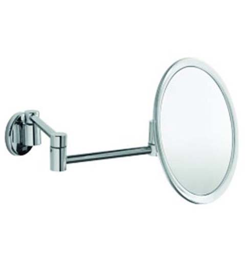 click on Magnifying Mirror - Wall mounted with double jointed arm and satin border image to enlarge
