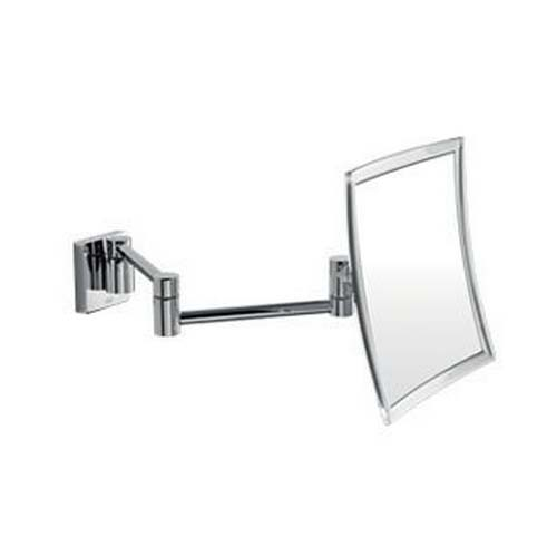 click on Magnifying Mirror - Wall mounted with double jointed arm. Square with satin border image to enlarge