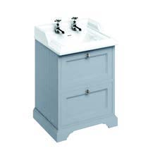 click on 65cm Vanity Unit with Two Drawers and Classic Basin image to enlarge
