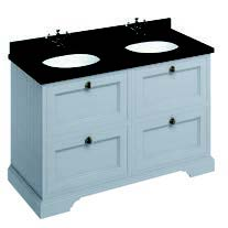 click on 130cm Vanity Unit with Four Drawers and Worktop image to enlarge
