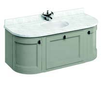click on 134cm Curved Vanity Unit with Worktop image to enlarge
