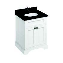 click on 65cm Vanity Unit with Two Doors and Worktop image to enlarge