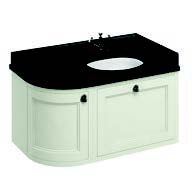 click on 100cm Curved Vanity Unit with Worktop - Right Hand image to enlarge