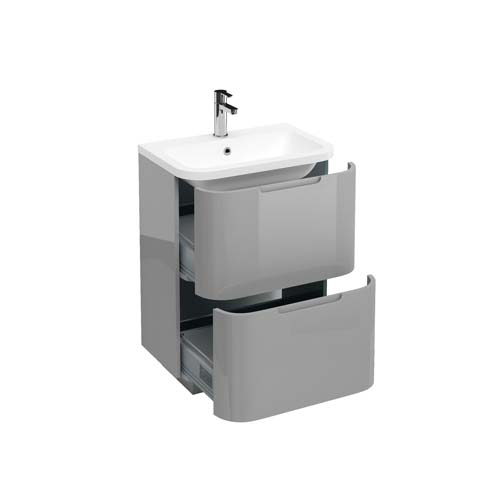 click on 60cm Two Drawer Vanity Unit image to enlarge