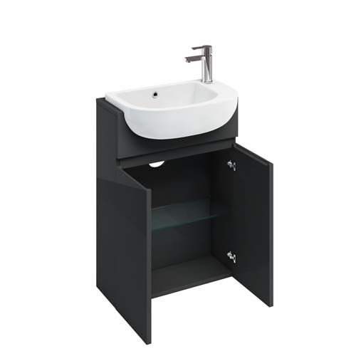 click on Compact Double Door Washbasin Unit image to enlarge