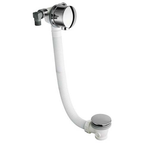 click on Overflow Bath Filler with Sprung Plug Waste image to enlarge