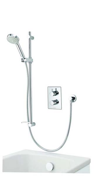 click on Dream DCV Concealed Diverter Valve with Slide Rail Kit & Overflow Bath Filler. image to enlarge