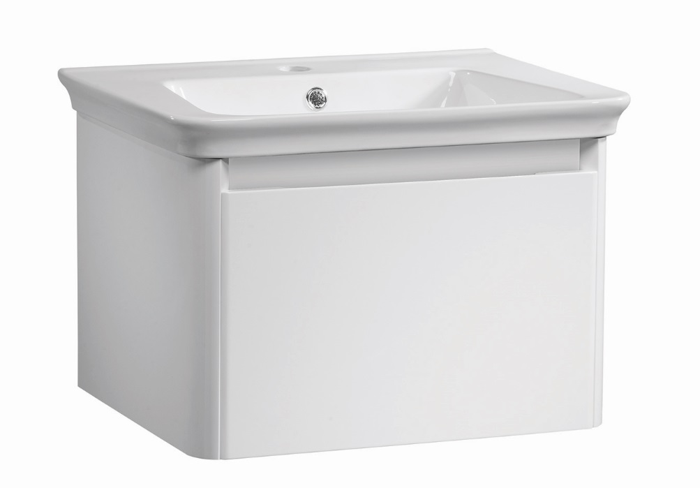 click on 60cm Wall Hung Vanity Unit with Drawer image to enlarge