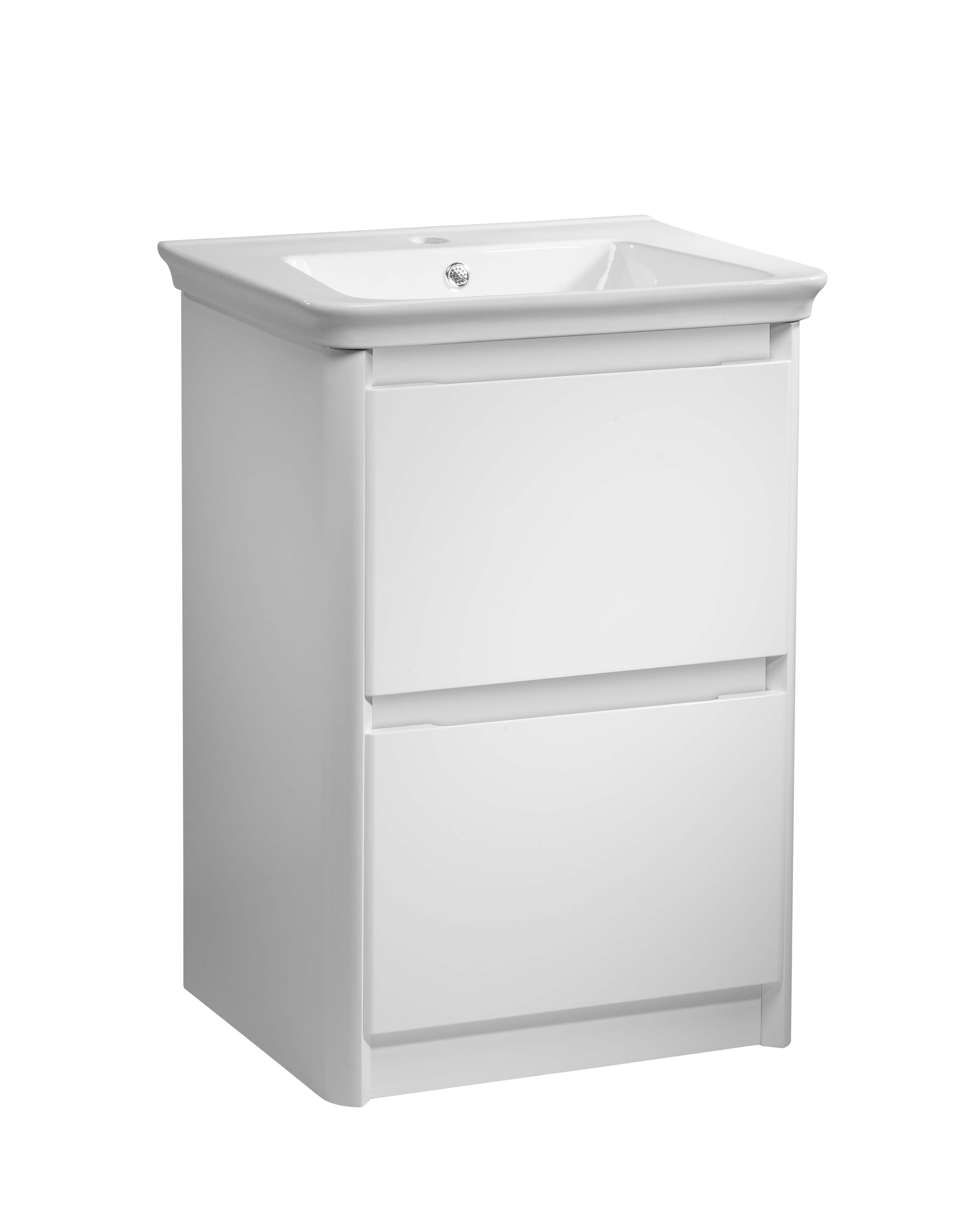 click on 60cm Floor Standing Vanity Unit with Drawers image to enlarge
