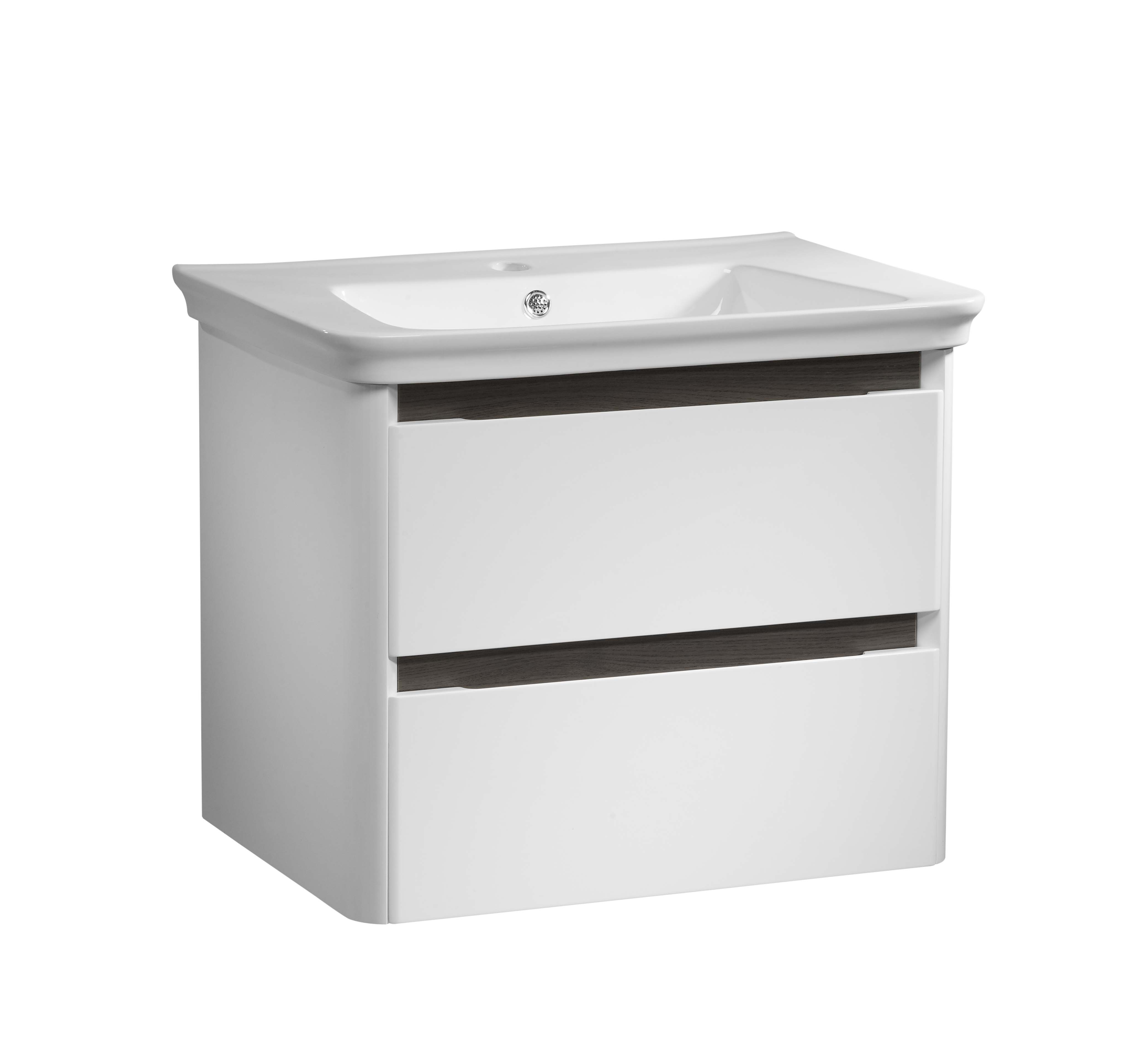 click on 70cm Wall Hung Vanity Unit with Drawer image to enlarge